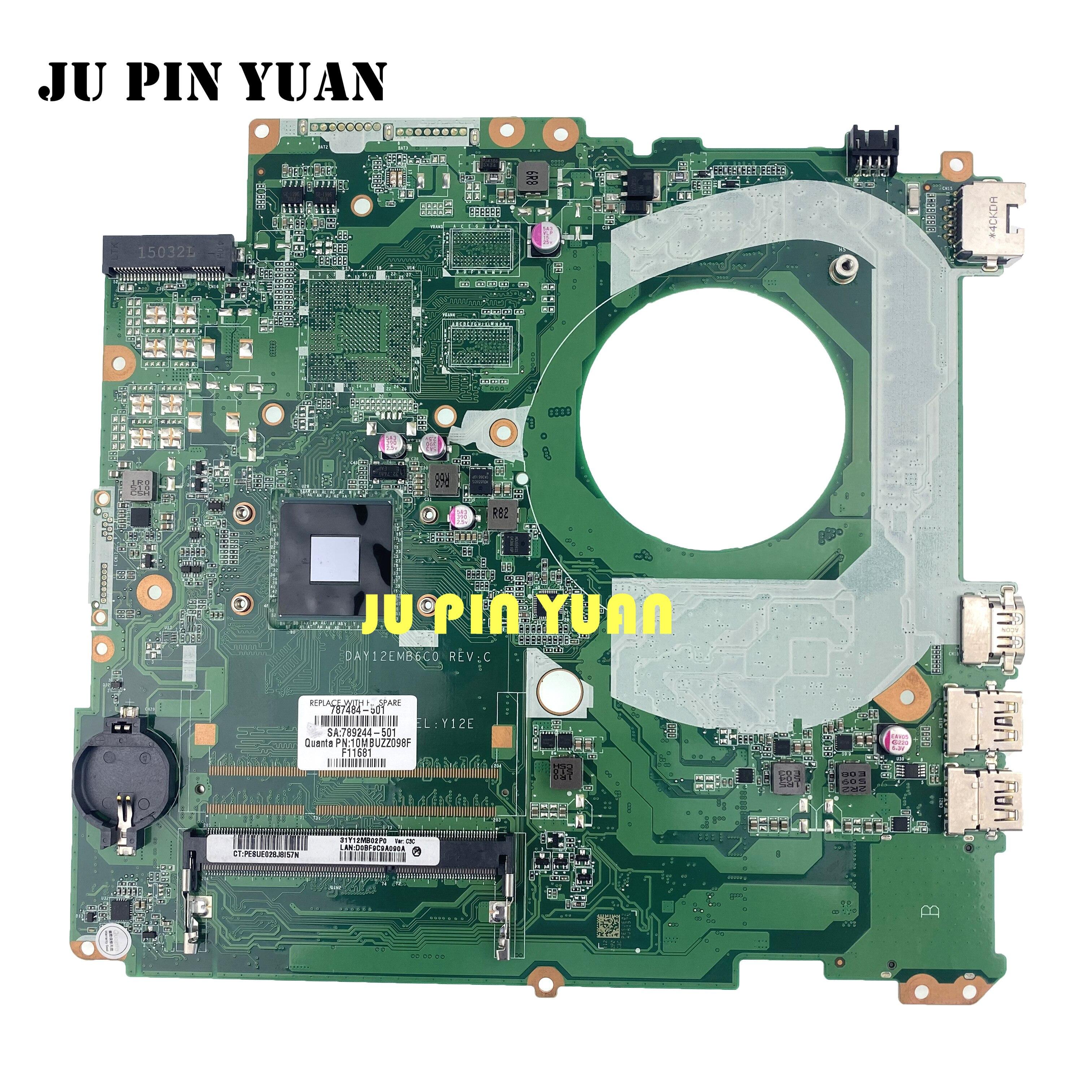 لوحة أم للكمبيوتر المحمول HP بافيليون 17-F لوحة رئيسية 787484-001 787484-501 787484-601 DAY12AMB6D0 N2830 تم اختبارها بالكامل