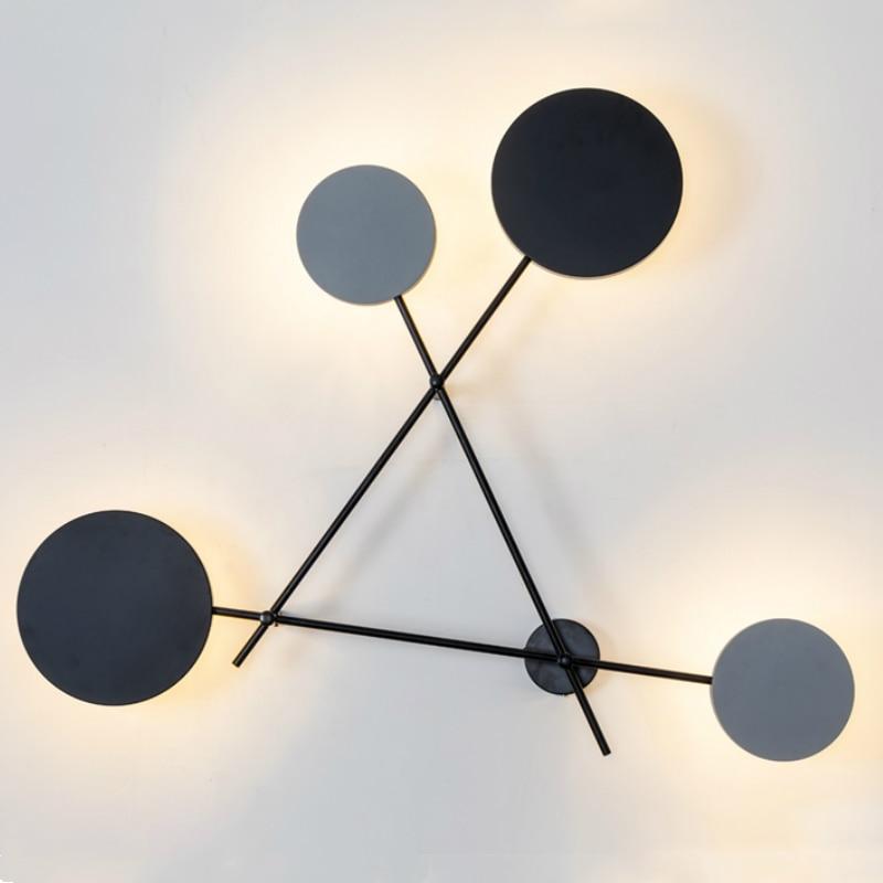 الحديثة الجدار مصباح Led الشمال المعيشة غرفة نوم خلفية ديكور إضاءة داخلية تركيبات الشمعدانات الحد الأدنى مصابيح الإنارة المستديرة