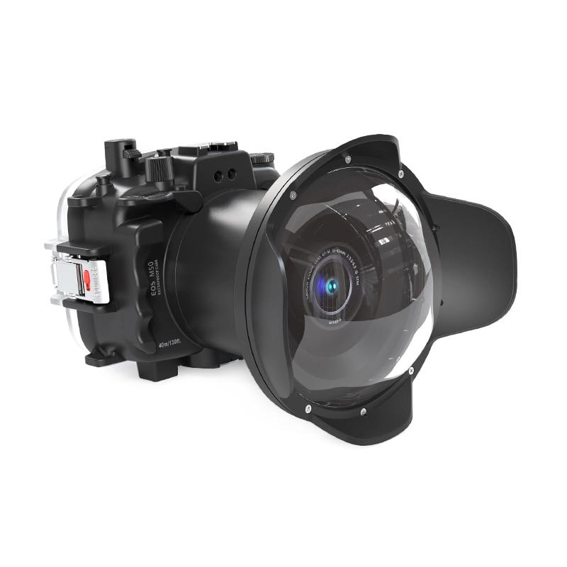 Habitação para Canon Natação à Prova Seafrogs Câmera Subaquática Eos M50 Kiss m Mergulho Case Surf Dwaterproof Água Capa 40m – 130ft