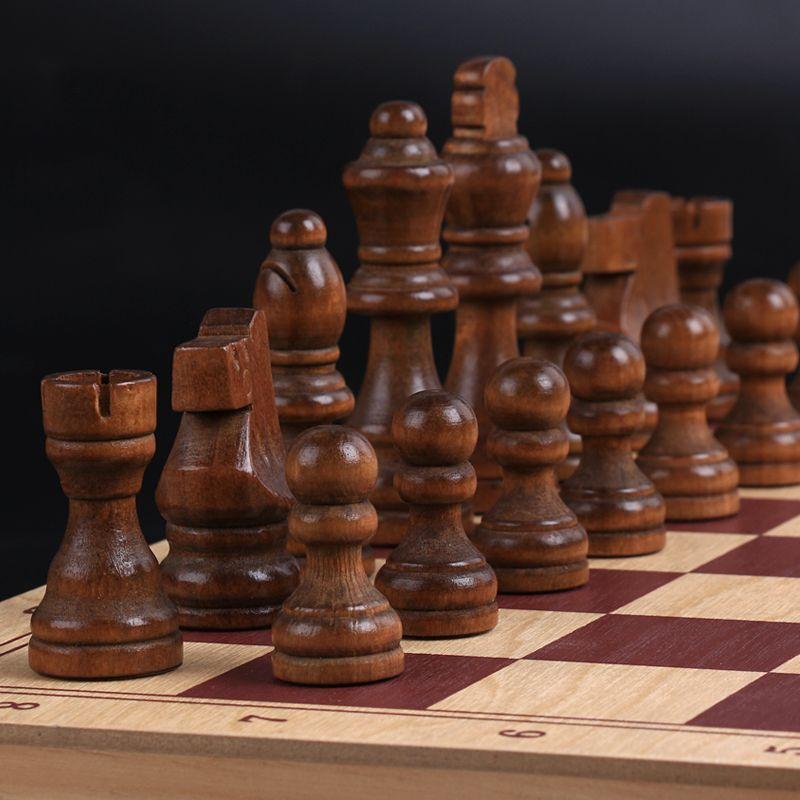 Ajedrez-tablero plegable de ajedrez de alta calidad, rompecabezas de ajedrez de 34x17x2,5...