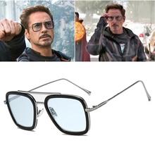 2020 Fashion  Tony Stark Flight 006 Style Sunglasses Men Square Aviation Brand Design Sun Glasses Oc
