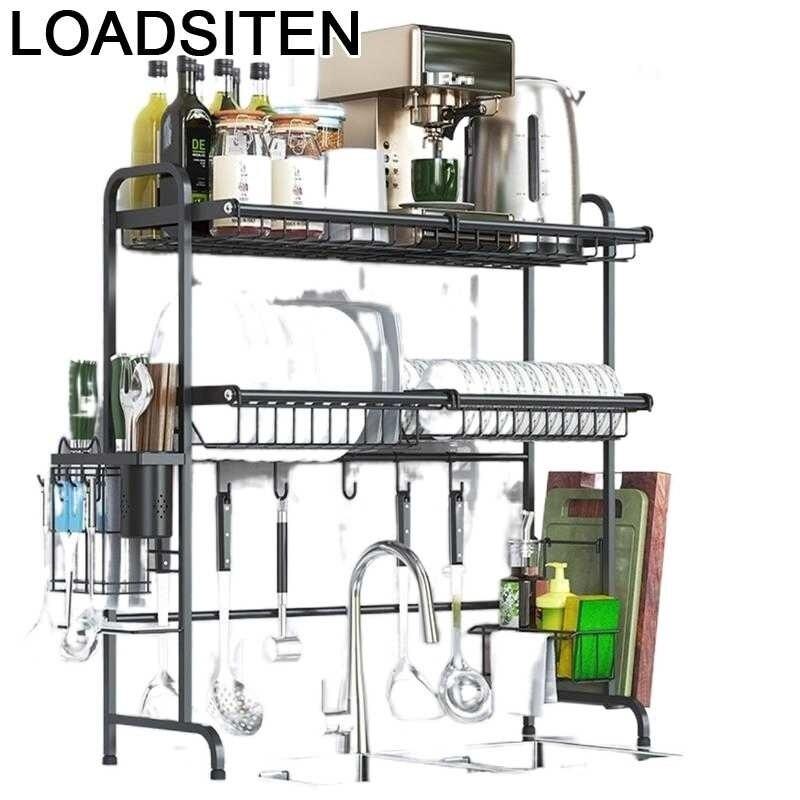 De Rangement والتخزين Egouttoir Vaisselle الفولاذ المقاوم للصدأ Cozinha رف Cocina contador المطبخ منظم مطبخ