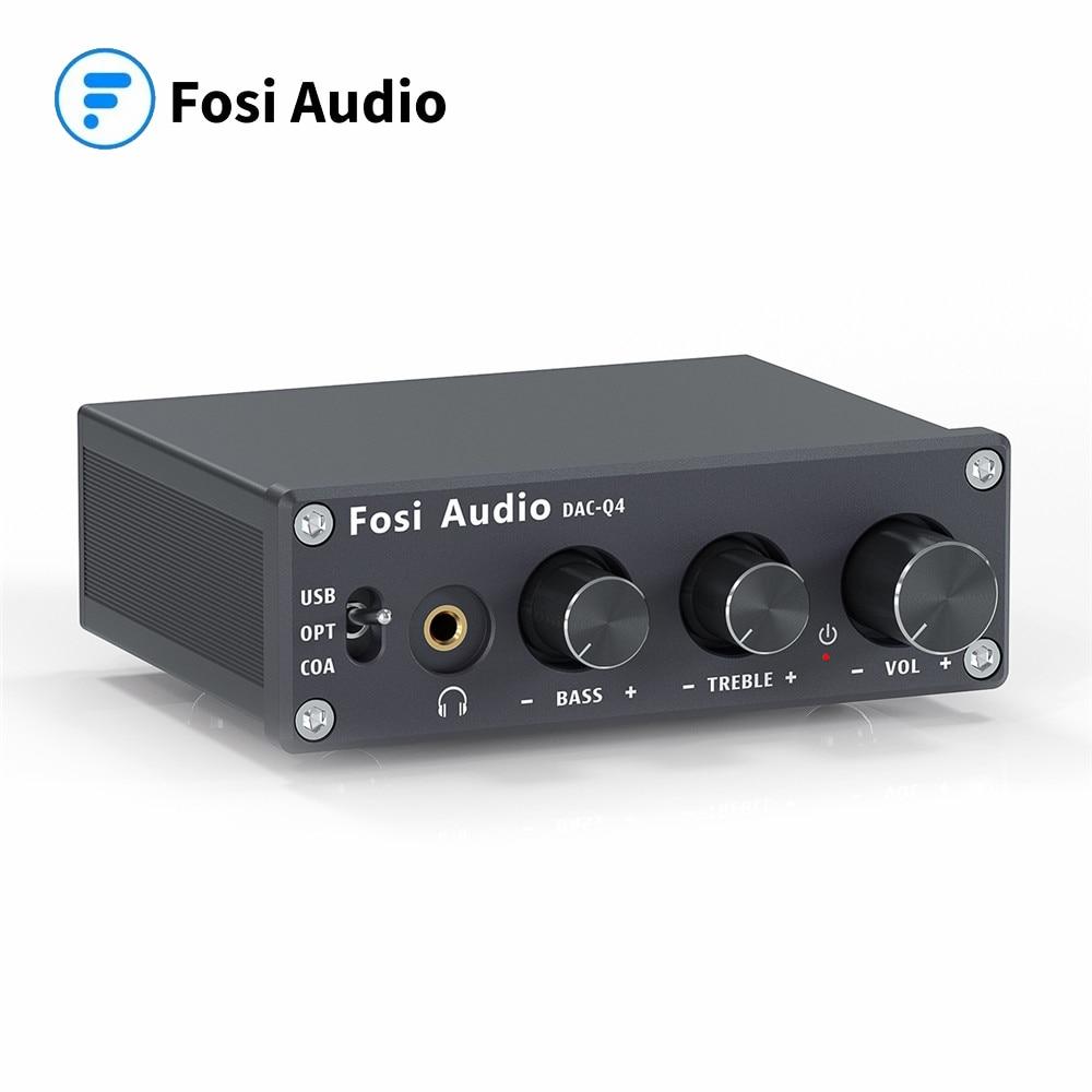 فوسي الصوت Q4 ستيريو صغير USB الألعاب DAC و مضخم ضوت سماعات الأذن محول صوت محول للمنزل/سطح المكتب بالطاقة/مكبرات صوت رياضية