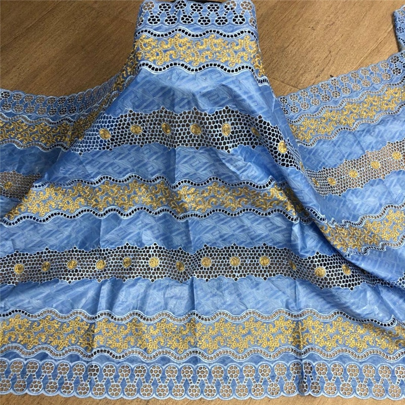 بازان أفريقي غني ، قماش مطرز بالخرز ، خامة للفساتين النيجيرية ، مجموعة جديدة 2.5 ياردة ، 4L072402