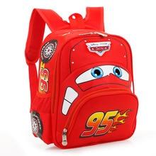 Cartoon Car Children Backpack Girls Boys 95 Team Kids Backpack  Primary School Students 3-6 Years Old Gift Boy Mochila Infantil