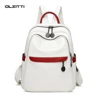 olsitti high quality fashion leather backpacks 2021 women large capacity travel school bag ladies leisure backpack mochila