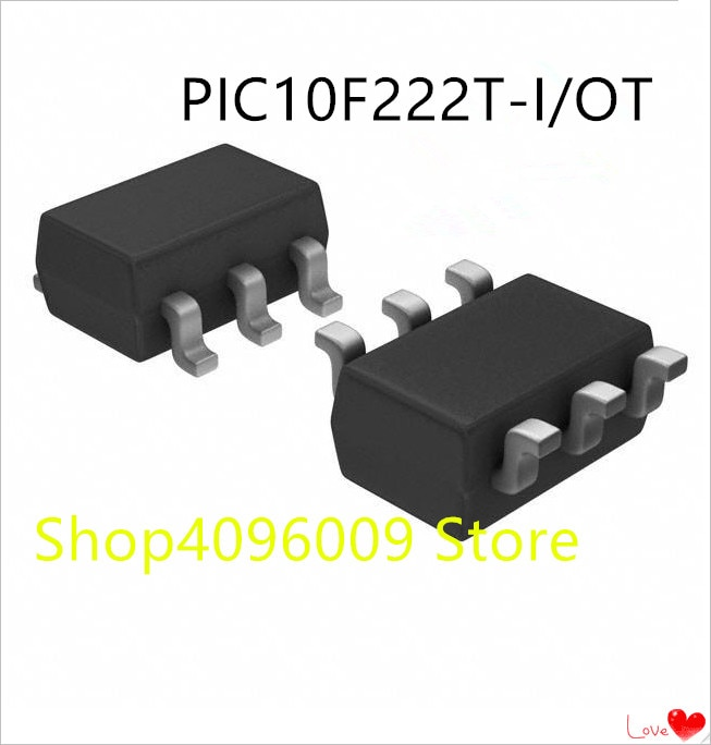 Nuevo 10 unids/lote PIC10F222T-I/OT PIC10F222-I/OT PIC10F222 SOT23-6
