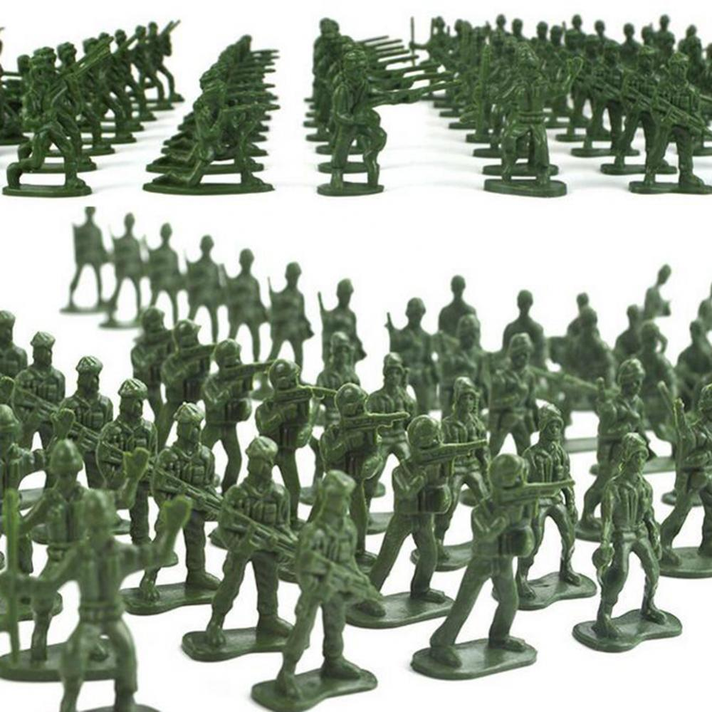 Mini Classic Military Soldiers Figures Models Playset Desk Decor Toddler Army Men Kids Toy Gift Accessories Children Toy Model 100pcs high soldier model military sandbox game plastic toy soldier army men figures for children s toy dolls gift