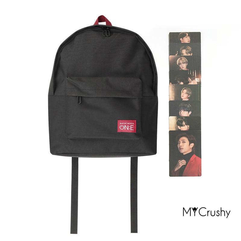 حقيبة صغيرة Kpop Merch بخريطة سيول تور حقيبة صغيرة على الطراز الكوري حقيبة ظهر فاني باكس حقيبة ظهر مدرسية لطيفة هدية للأولاد Bangtan