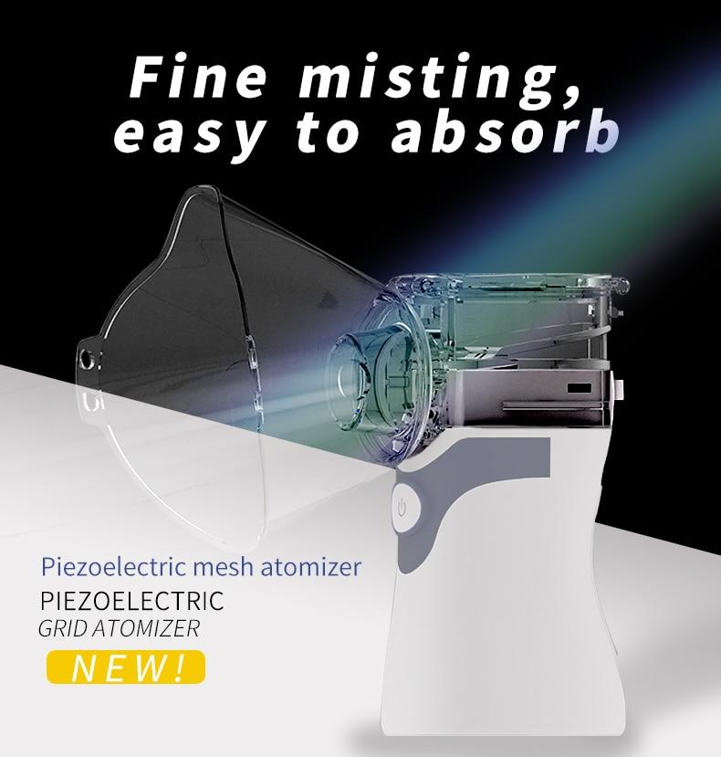 Nebulizador micro-red atomización portátil de mano niño adulto inhalador de compresión hogar phlegm Dispositivo de vapor para la tos