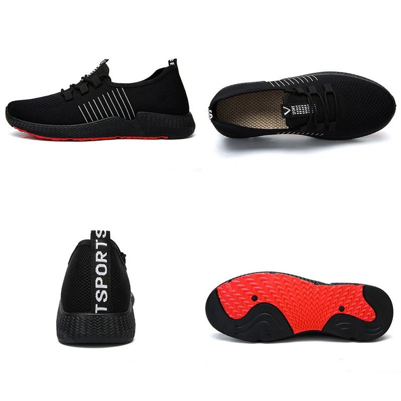2019 New Sneakers Shoes MensTennis Shoes Breathable Mesh Soft Sole Casual Fashion Athletic Comfort Light Male Sneakers