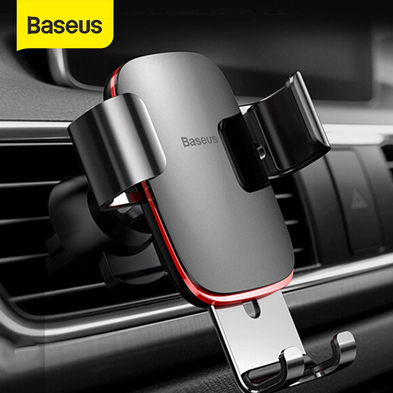 Baseus Air Outlet Phone Holder In Car Auto-locked Gravity Car Holder Universal Phone Holder Stand Mo