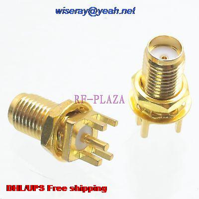 مقبس مقبس أنثى SMA ، 200 قطعة ، DHL/EMS ، لحام PCB ، حامل الحافة المستقيمة-A3