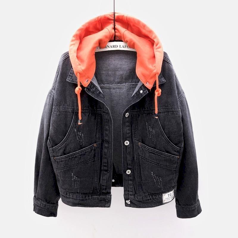 معطف فضفاض للرجال والنساء ، جاكيت كوري جديد ، أكمام طويلة ، بقلنسوة ، جيب كبير ، زي زوجين ، مجموعة ربيع خريف 2021