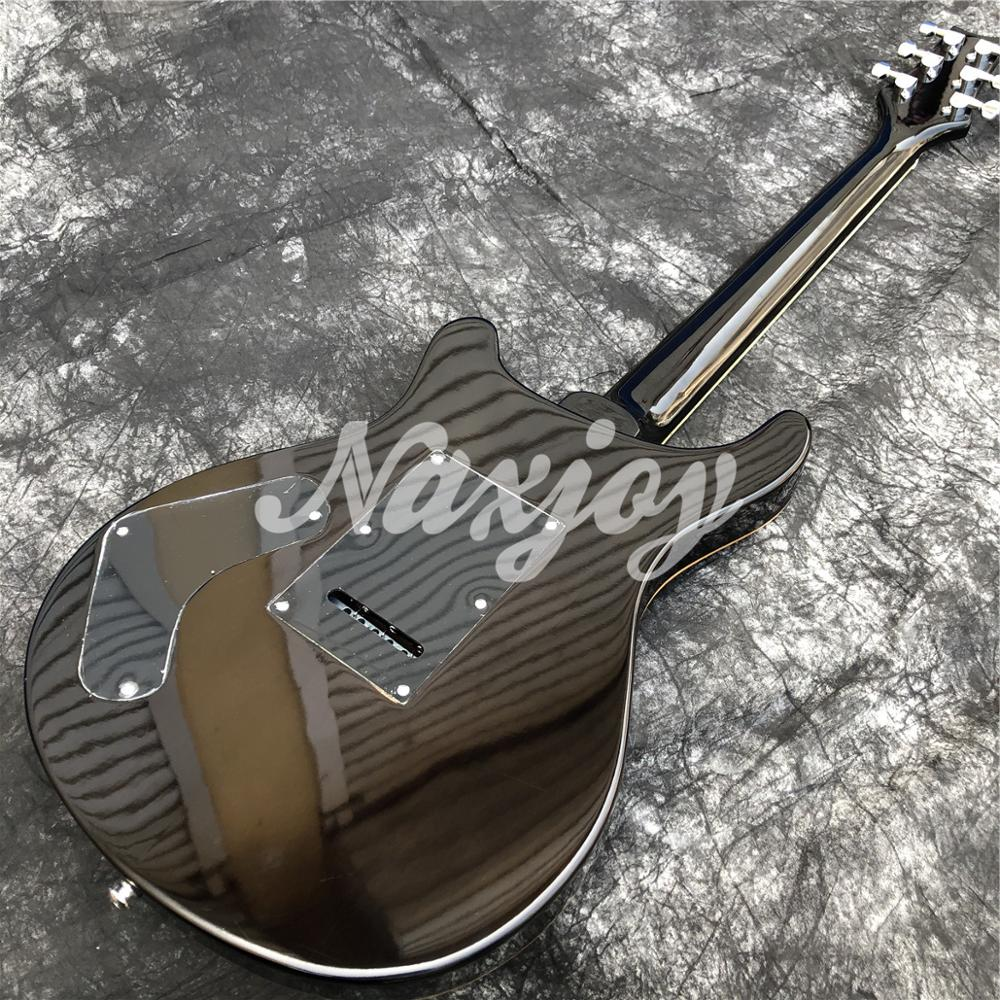 Glossy Black 6 string Electric Guitar,solid Mahogany body Rosewood fingerboard guitar,Real photos,Free shipping enlarge