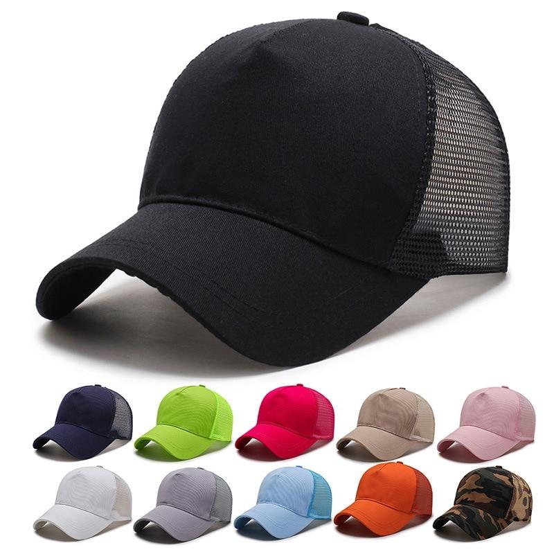 Gorra Unisex de red de secado rápido, gorra de béisbol, visera curvada ajustable, gorra Snapback de algodón para peces, gorra para deportes de playa al aire libre, sombrilla