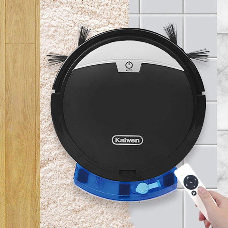 2800Pa Robot Vacuum Cleaner Home Automatic Wireless Timer Wet and Dry Anti-drop