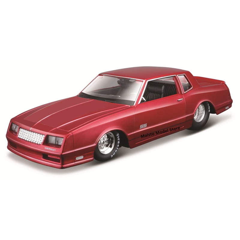 Maisto 1:24 1986 Chevrolet Monte Carlo SS Highly-detailed die-cast precision model car Model collection gift