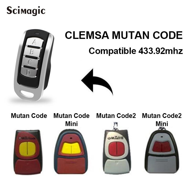 Clon de control remoto de puerta de garaje de 433MHz para CLEMSA MUTANCODE MINI MUTANCODE II MINI código rodante