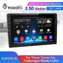 Podofo 9/10 Inch 2 Din Auto Android 8.1 Radio Multimedia Speler Voor Nissan Toyota Kia Volkswagen Mazda Lada Peugeot Renault honda