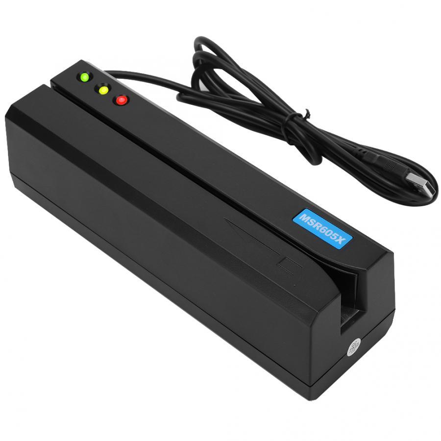 MSR605X считыватель карт с магнитной полосой USB светодиодный индикатор Magstripe Writer 3 трека Считыватель Карт памяти lector de tarjeta