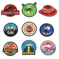 20pcslot round circular embroidery iron on patches letter biker for clothing badge sewing accessories