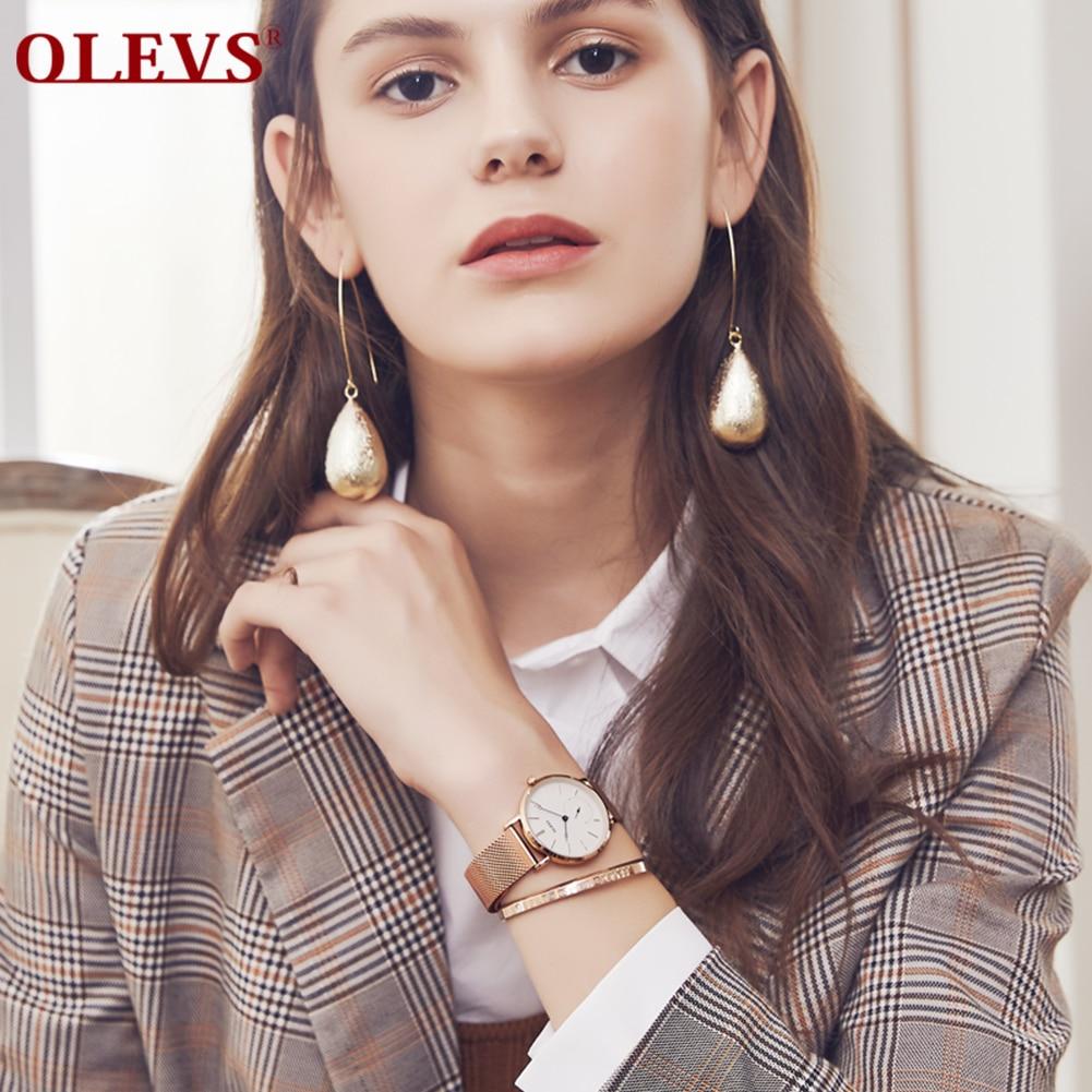 애플워치 스트랩 urvoi BandWomen's Watches reloj hombre Ladies Fashion Quartz Watch Bracelet Mesh Luxury Women Watch montre homme gift