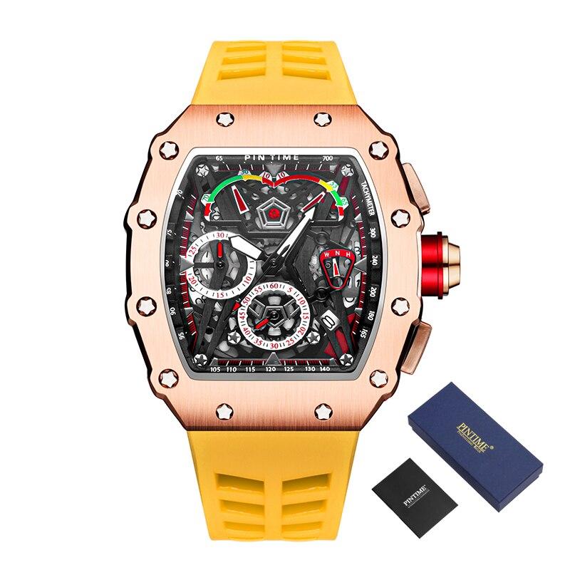 Creative Watch Men Chronograph Hip Hop Sport Mens Watches Top Brand Luxury Waterproof Gold Clock Rel