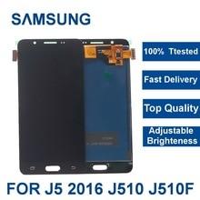 100% testé pour Samsung Galaxy J5 2016 J510 J510FN J510F J510M J510H/DS LCD écran tactile numériseur assemblée avec cadre