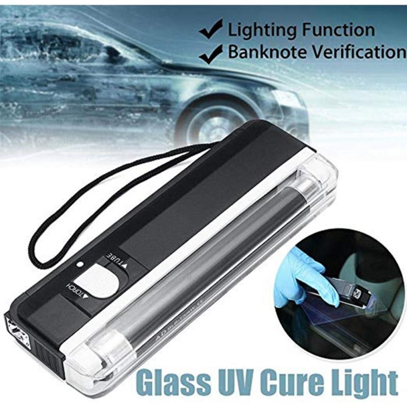 Ventana de coche de resina curada UV lámpara de vidrio automático ultravioleta UV cura luz iluminación parabrisas reemplazable Kit de reparación