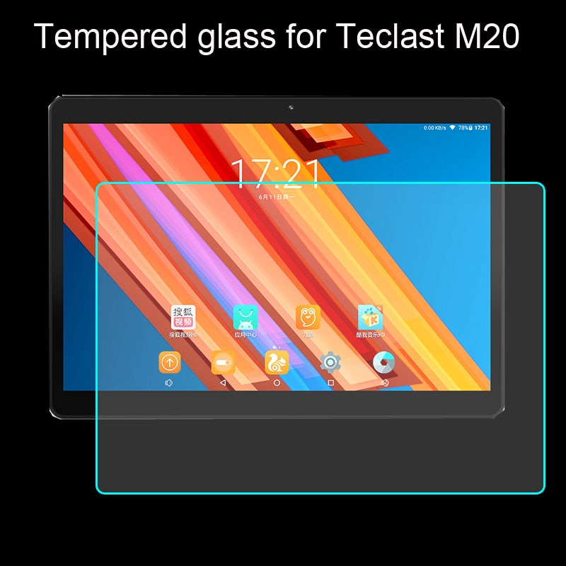Protector de pantalla de vidrio templado para Teclast M20 M30 T30 T10 T20 10,1 Protector de película protectora para tableta