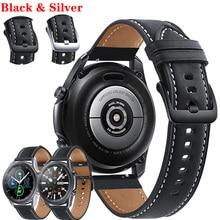 Correa de cuero genuino para Samsung Galaxy Watch 3, correa de reloj de 45mm, 22mm, 46mm