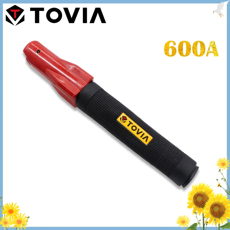 TOVIA 600A Weld Holder 1.0-5.0mm Insulated Electrode Holder Screw Weld Clamp For Welding Rod Welding Machine