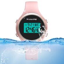 جديد نساء موضة ساعات رقمية 5bar مقاوم للماء سيليكون حزام ساعة منبه مضيئة السيدات ساعة اليد بنات relogio feminino