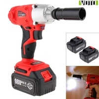 voto ac 100 240v cordless 98v two speed impact electric wrench with max 2 lithium batteries and power display lights