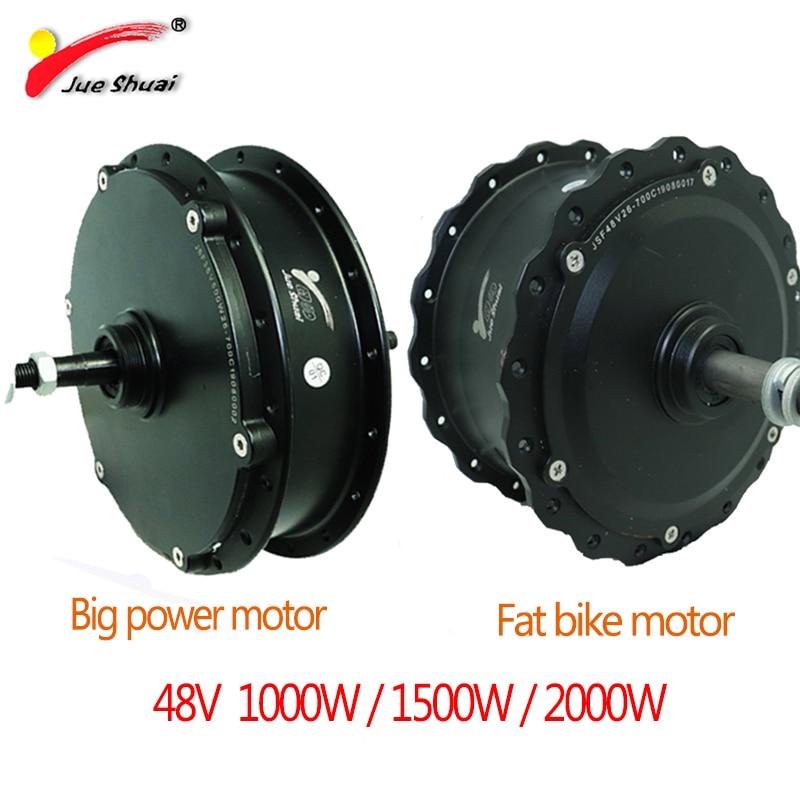 Ebike-bicicleta eléctrica, Motor de buje de bicicleta de gran potencia 48V 1000-2000W, Kit de conversión de alta velocidad, sin escobillas con Motor trasero