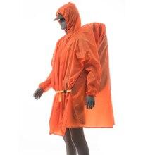 3F UL GETRIEBE Einzelne Person Ultraleicht Wandern Radfahren Regenmantel 15D Silikon 210T Taft Freien Markise Camping Tarp Sun Shelter