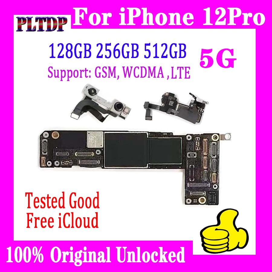 لوحة أم أصلية مختبرة بالكامل لهاتف iPhone 12 Pro مع/بدون هوية للوجه ، لوحة إلكترونية آي فون 12 برو نسخة غير مفتوحة مع لوحة IOS