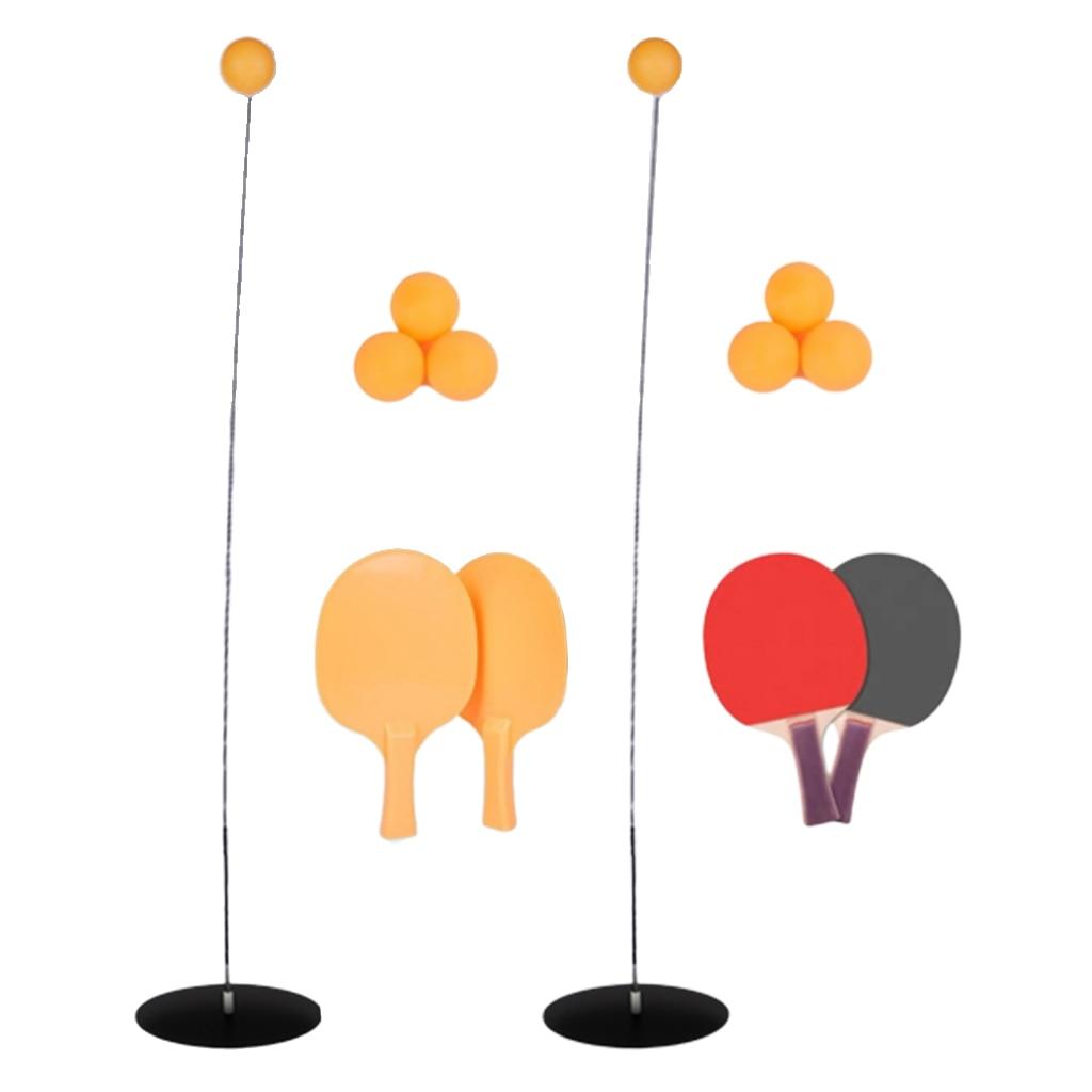 Accesorios para equipos de entrenamiento de tenis de mesa pelotas de Ping Pong Robot y 1 par de paletas de madera/plástico