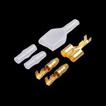 10/20/50 ensembles 4.0 balle terminal voiture connecteur de fil électrique diamètre 4mm mâle + femelle 1: 2