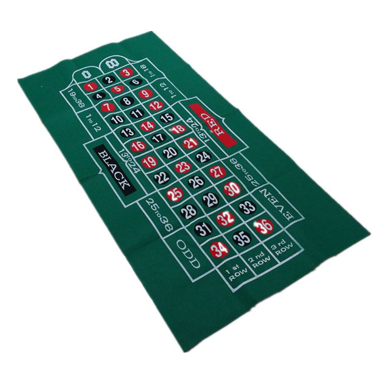 Двухсторонняя скатерть для игры русская рулетка и блэкджек игровой стол коврик K1KD-3
