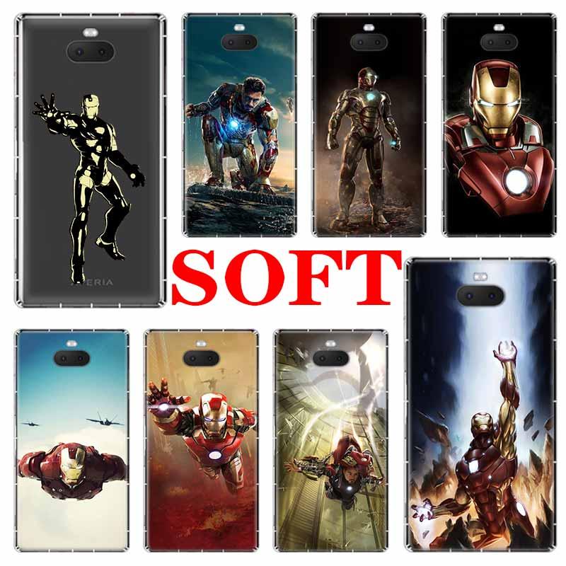Marvel hero Iron Man Soft Phone Cases For Sony Xperia X XA XA1 XA2 XA3 XZ XZ1 XZ2 XZ3 XZ4 L1 L2 L3 Plus Compeact