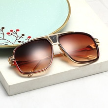Trendy Men's Sunglasses Fashion Retro Metal Ladies Big Frame Couple Toad Mirror Round Face Sunglasse