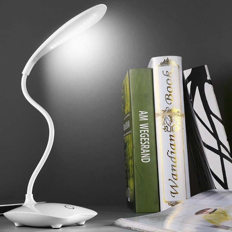 LED لمبة مكتب طوي عكس الضوء اللمس الجدول مصباح USB بالطاقة مصباح الطاولة ليلة ضوء اللمس يعتم مصباح محمول