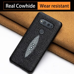 Phone Case For LG V10 V20 V30s V40 V50 Thinq G6 G7 G8s ThinQ G3 G4 G5 Q6 Q7 Q8 K50 K4 K8 2017 K10 2018 Cowhide Pearl Fish cover
