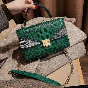 New Crocodile Pattern Women Handbag High Quality Shoulder Messenger Bag PU leather Crossbody Bag for Women 2020 Bolsa Feminina