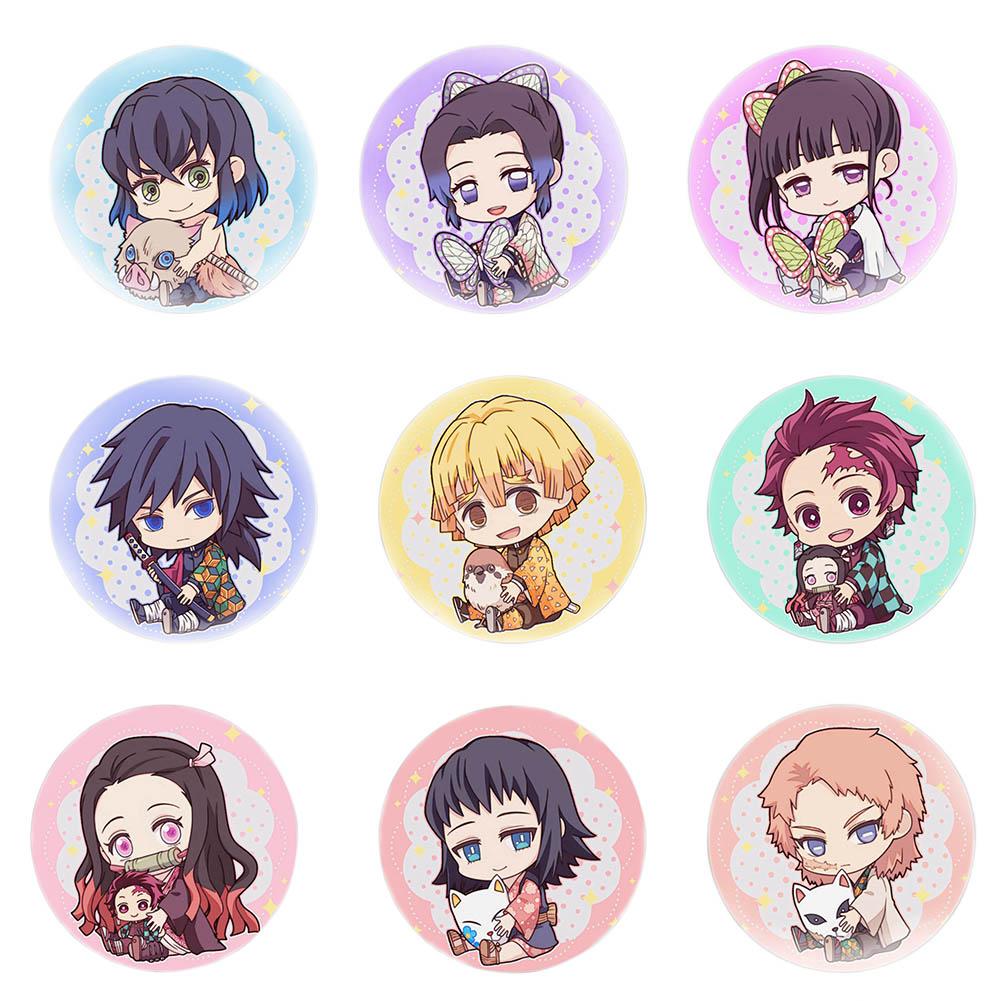"Anime insignias demonio Cazavampiros: Kimetsu No Yaiba Cosplay broche mochila 5,8 CM (2,3 "")"