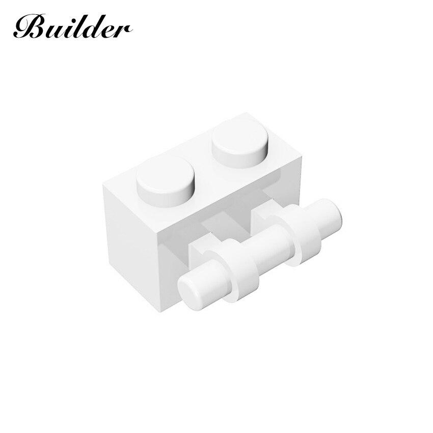 Строительные блоки Little Builder, детали 1x2, кирпич, односторонний кирпич с ручкой, MOC, совместимы с брендами игрушек для детей, 30236
