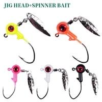 10pcslot big eyes jig head hook 0 87g1 7g3 5g carbon steel head fishing hooks with spinner bait soft worm assist hook peche