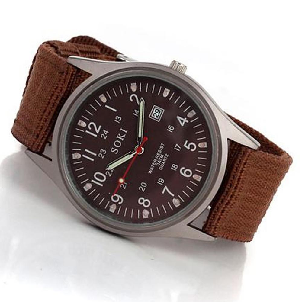Reloj 2020 con correa de nailon tejido, reloj con calendario para hombre, reloj de pulsera para decoración de fiesta, reloj de negocios, reloj masculino @ 5